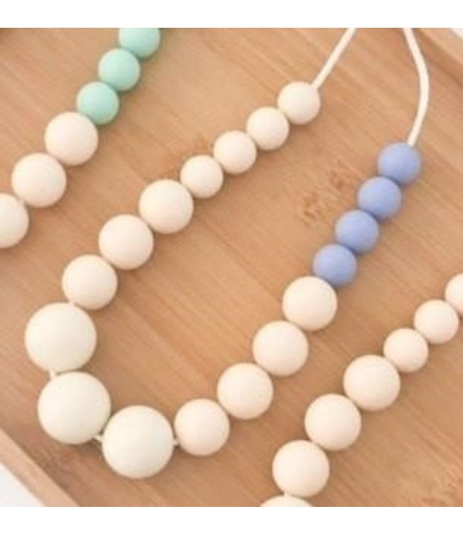 ELKE SILICONE NECKLACE - BLUE