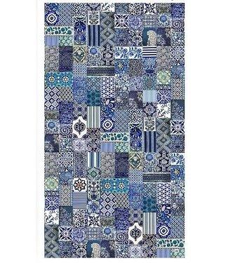 Anna Chandler Designs INDIGO - CANVAS TABLECLOTH