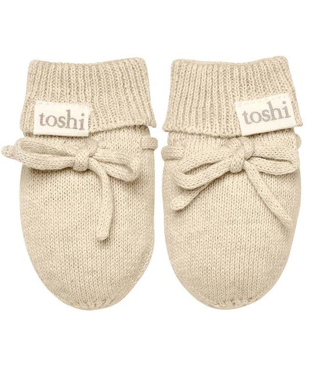 Toshi ORGANIC MITTENS - MARLEY  OATMEAL