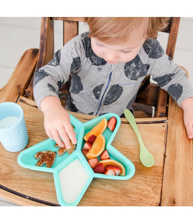 STAR GRAZER SILICONE DIVIDED PLATE - MINT