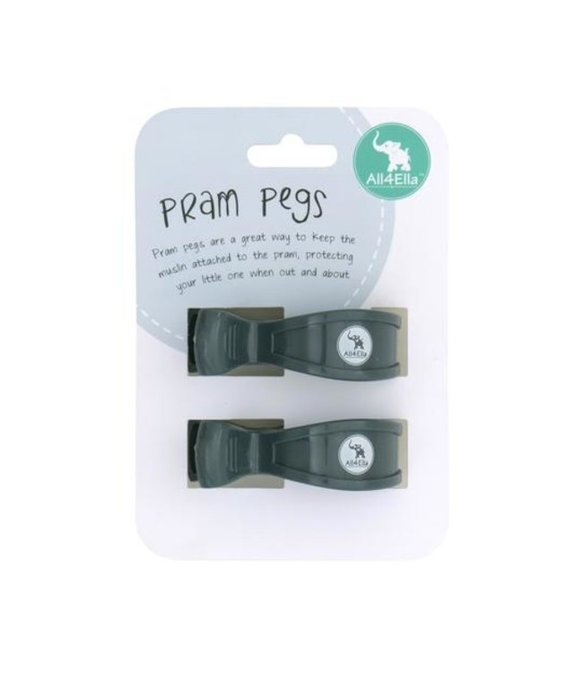 2 PACK PRAM PEGS - CHARCOAL