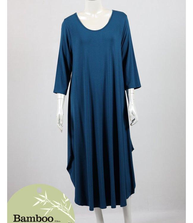 LONDON BAMBOO MAXI DRESS - TEAL