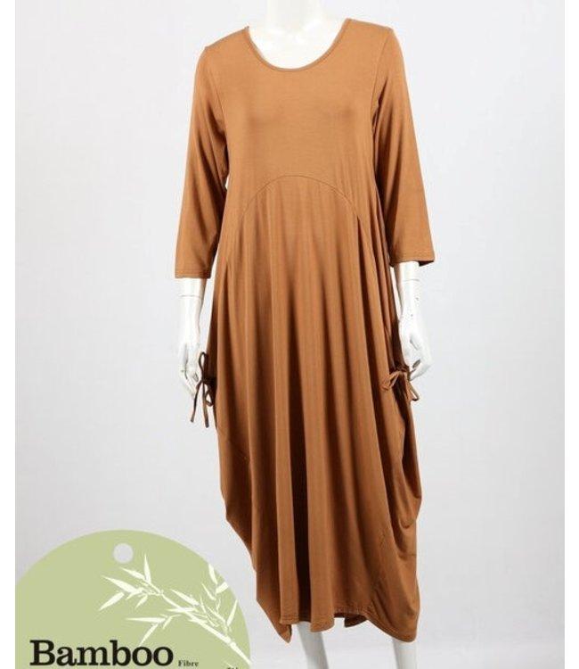 ADELAIDE BAMBOO DRESS - TOBACCO