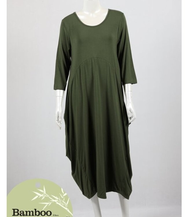 ADELAIDE BAMBOO DRESS - OLIVE