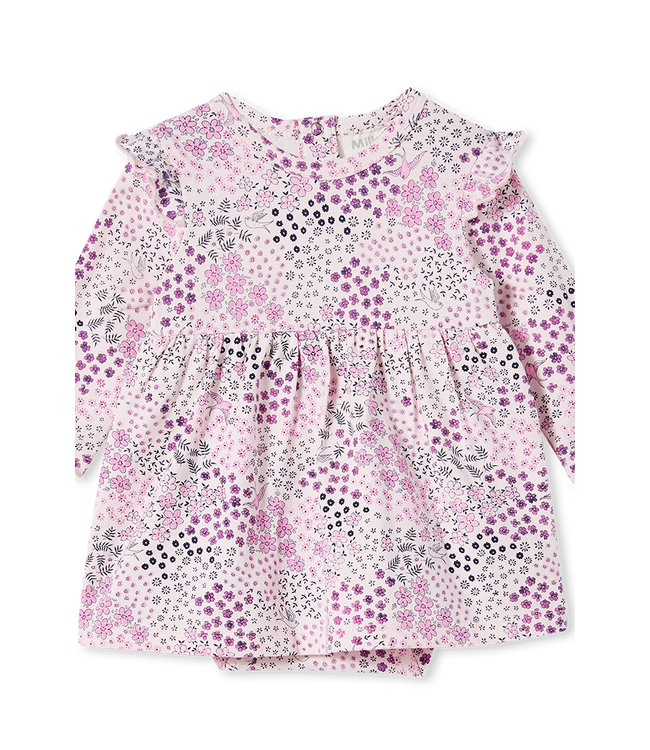 Milky PATCHWORK BABY DRESS - BLOSSOM PINK