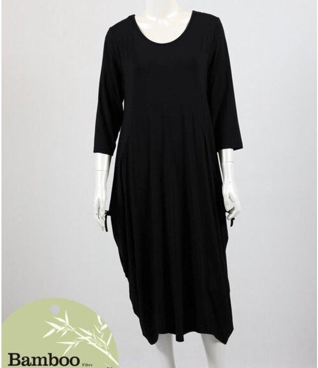 ADELAIDE BAMBOO DRESS - BLACK