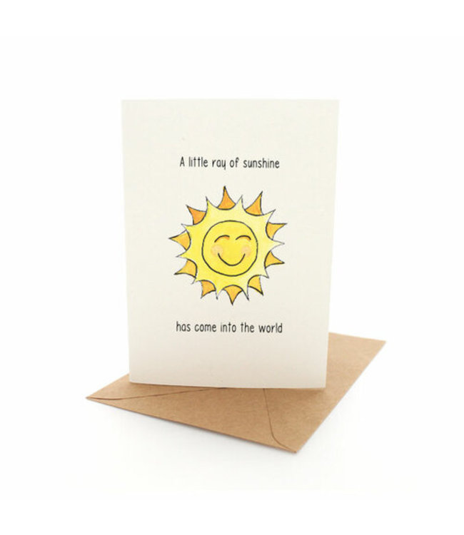 A LITTLE RAY OF SUNSHINE CARD