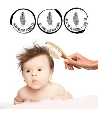 SHELLAMY BABY WOODEN BABY HAIR BRUSH SET