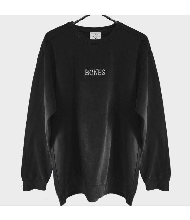 BILLY BONES CLUB BONES CLUB CREW SWEATER - BLACK