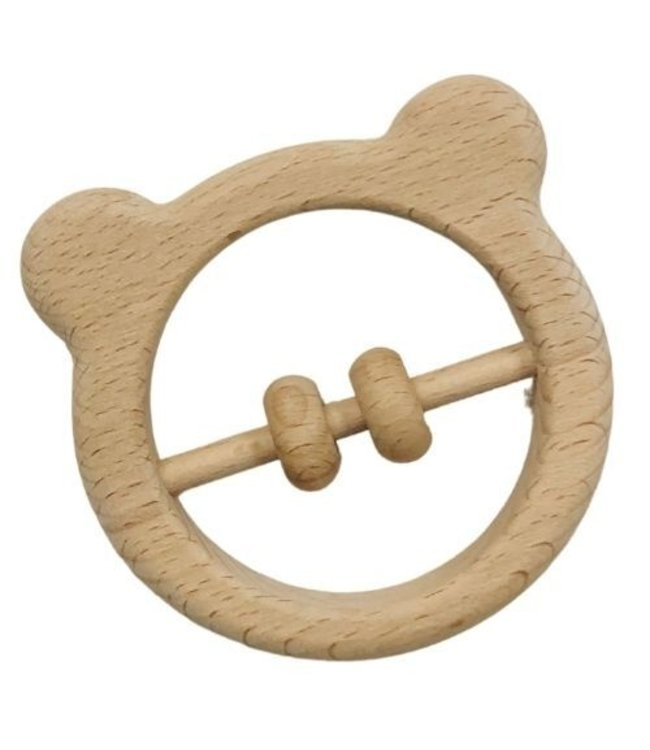 BEAR - WOODEN BABY RATTLE