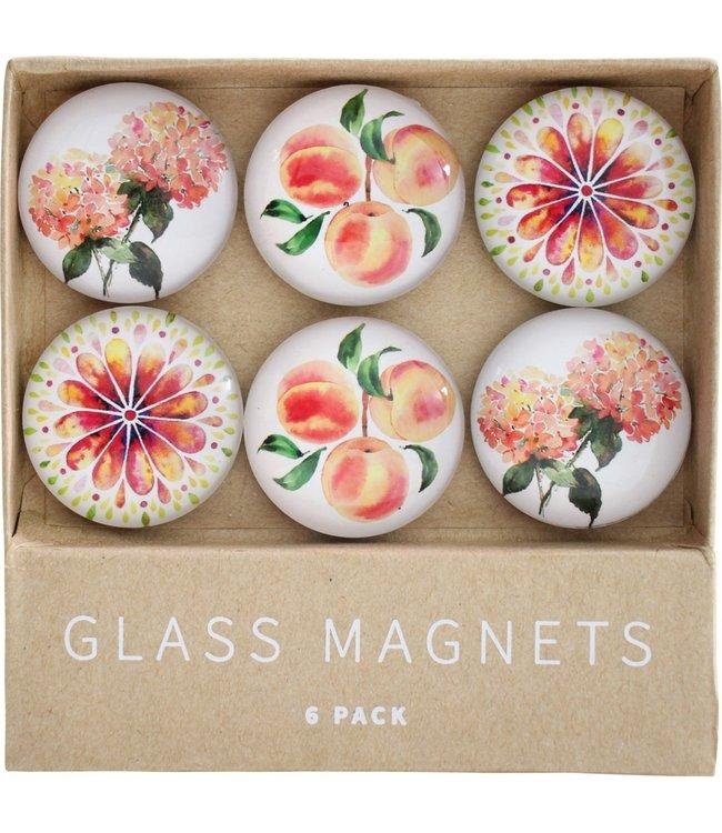 GLASS MAGNETS - PEACH AFFAIR