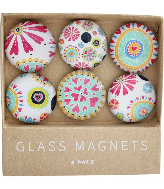 GLASS MAGNETS - CARNIVAL