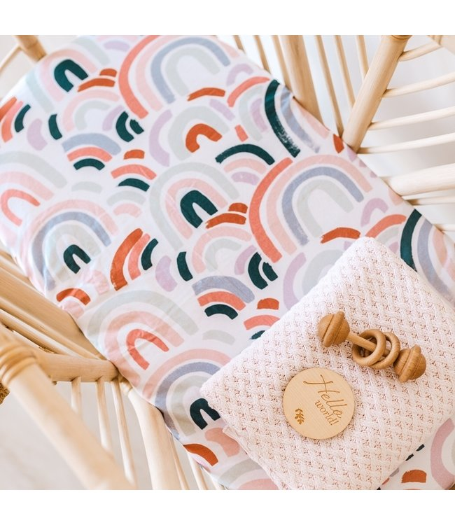 SNUGGLE HUNNY KIDS RAINBOW BABY - BASSINET SHEET/CHANGE PAD COVER