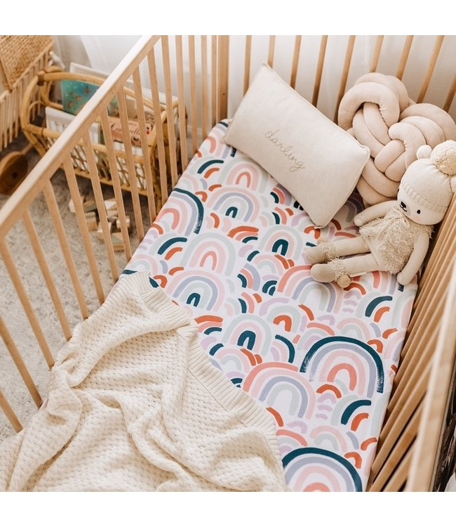 SNUGGLE HUNNY KIDS RAINBOW BABY - FITTED COT SHEET