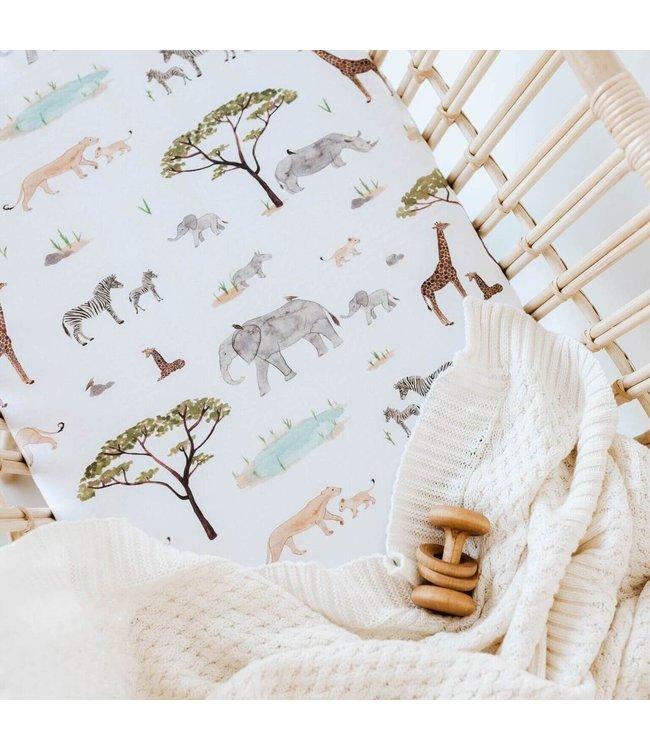 SNUGGLE HUNNY KIDS SAFARI - BASSINET SHEET/CHANGE PAD COVER