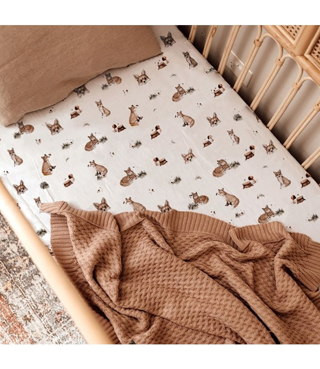 SNUGGLE HUNNY KIDS FOX - FITTED COT SHEET