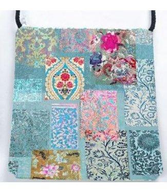 Anna Chandler Designs VENEZIA TURQUOISE - VELVET BAG