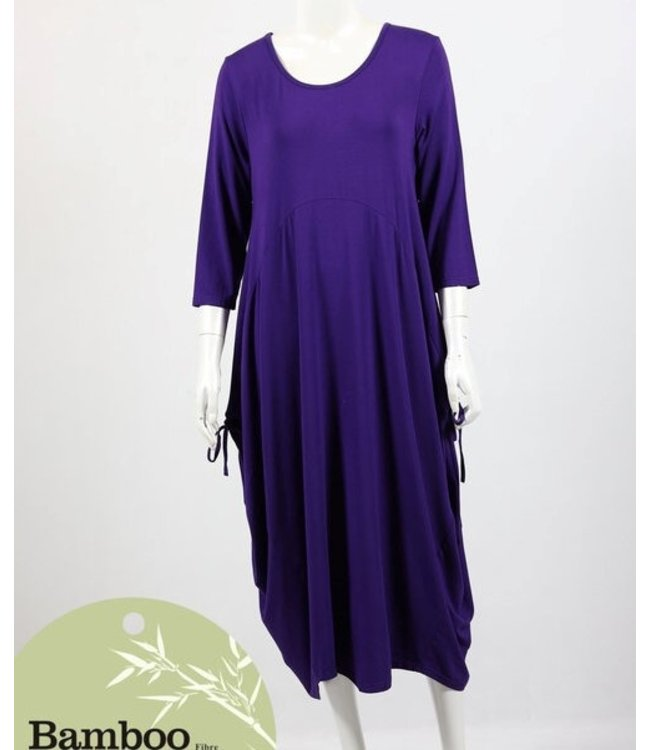 ADELAIDE BAMBOO DRESS - EGGPLANT