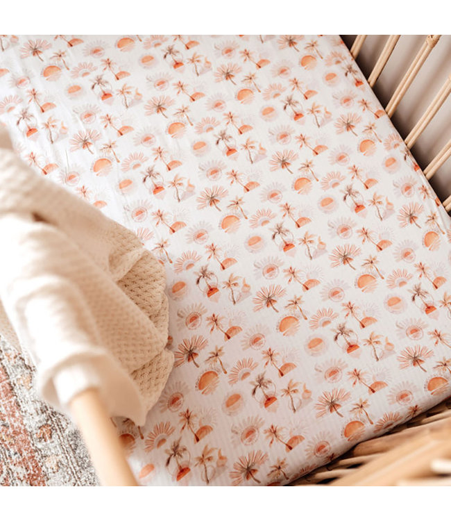 SNUGGLE HUNNY KIDS PARADISE - FITTED COT SHEET