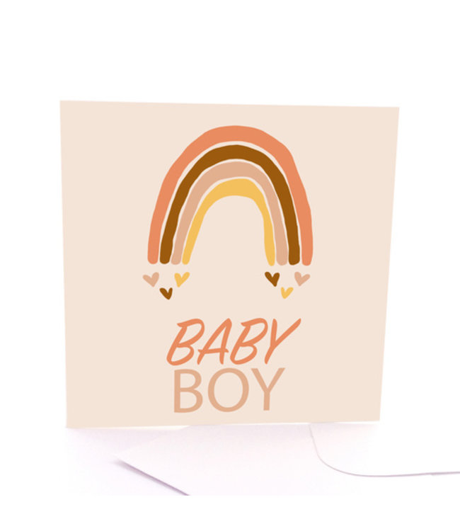 BABY BOY CARD - RAINBOW