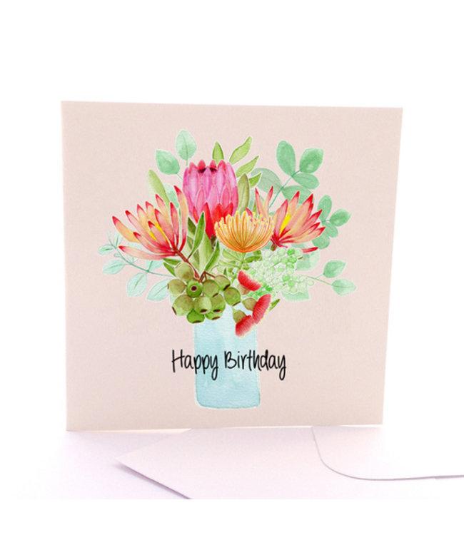 HAPPY BIRTHDAY CARD- WILDFLOWERS