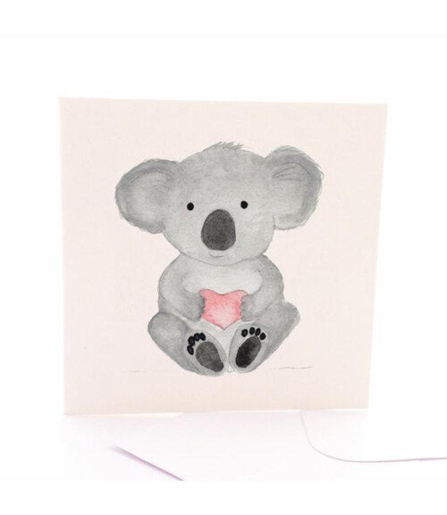 KOALA CARD - HEART