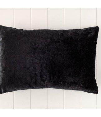 BLACK VELVET CUSHION - 60x40cm