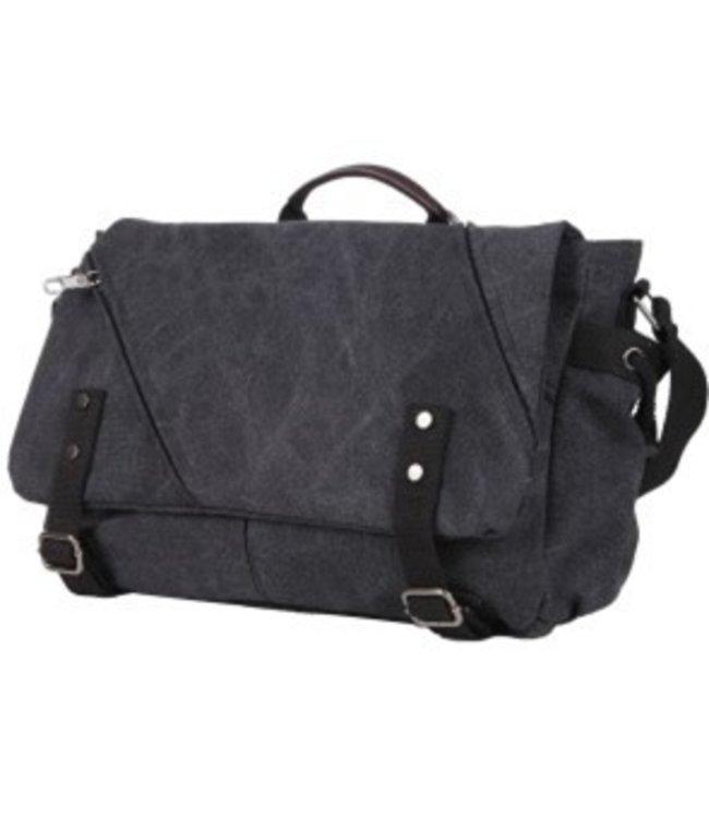 REVIVAL MESSENGER BAG - BLACK/BLUE
