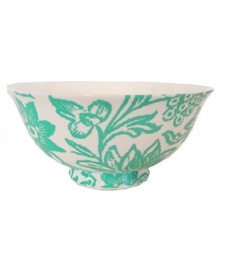 Anna Chandler Designs TURQUOISE BONE CHINA BOWLS - SET OF 4