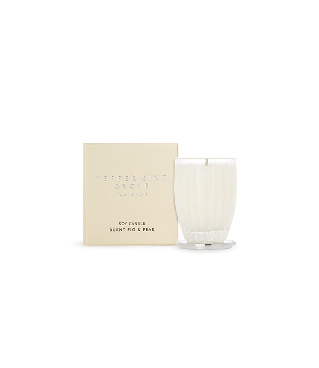 PEPPERMINT GROVE BURNT FIG & PEAR CANDLE  60g