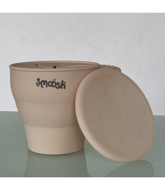 SMOOSH COLLAPSIBLE SNACK CUP - LATTE