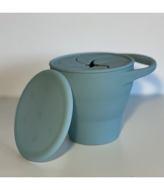 SMOOSH COLLAPSIBLE SNACK CUP - TEAL