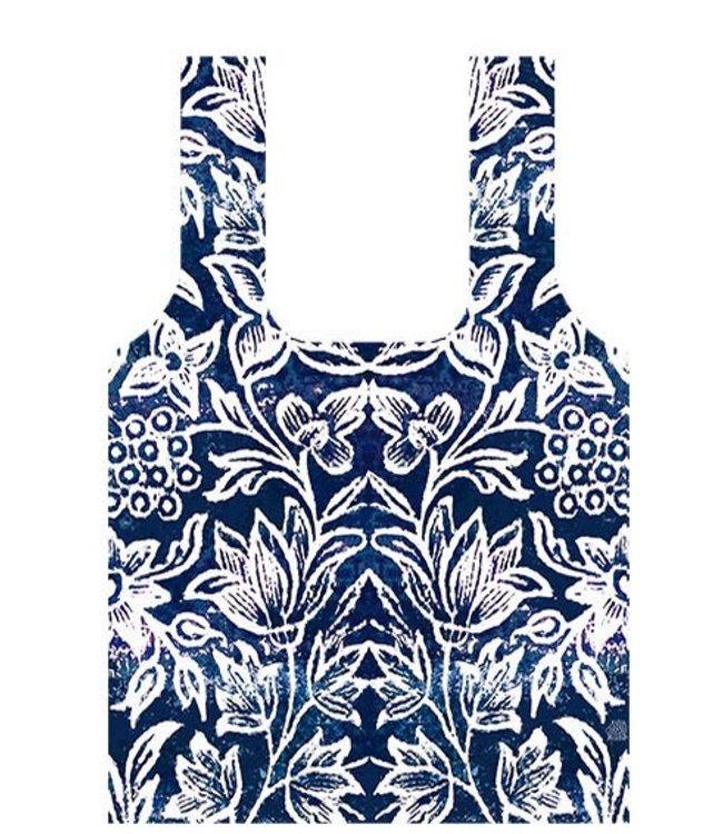 Anna Chandler Designs SPICE ISLAND INDIGO - FOLD UP BAG