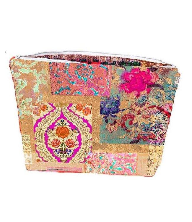 Anna Chandler Designs VENEZIA GOLD - CANVAS MAKEUP BAG