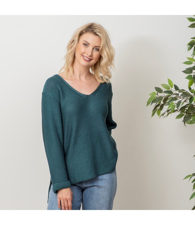 REESE KNIT TOP - TEAL