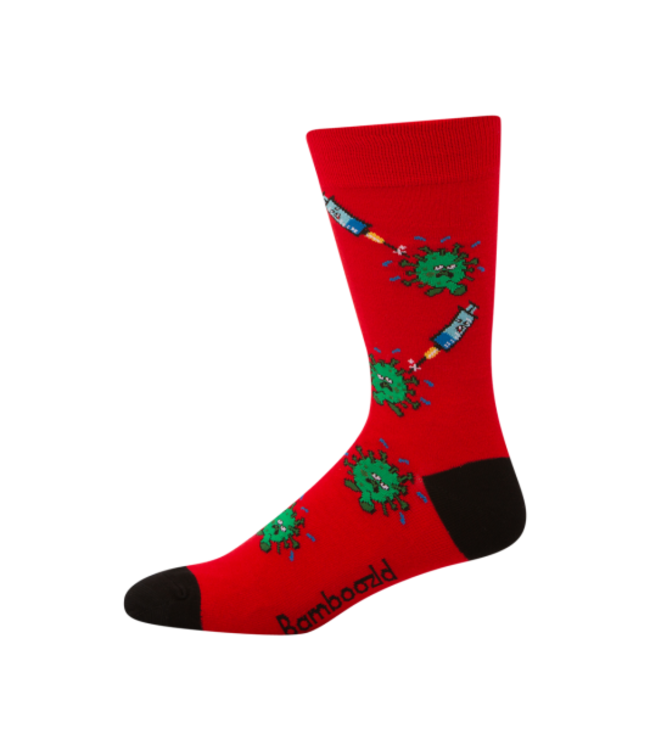 BAMBOOZLD MENS HEALTHCARE WORKER BAMBOO SOCK - RED