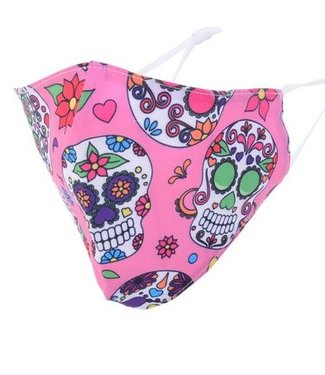 MASKIT FACE MASK - DAY OF THE DEAD-PINK
