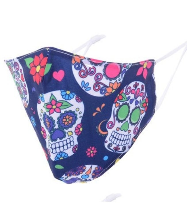 MASKIT FACE MASK - DAY OF THE DEAD-NAVY