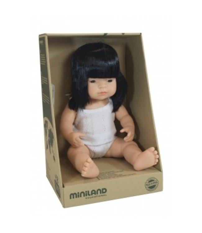 MINILAND BABY DOLL - ASIAN GIRL 38CM