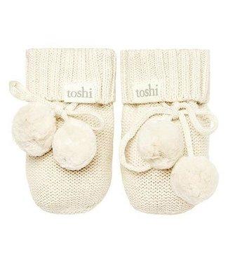 Toshi ORGANIC BOOTIES - MARLEY  CREAM 00