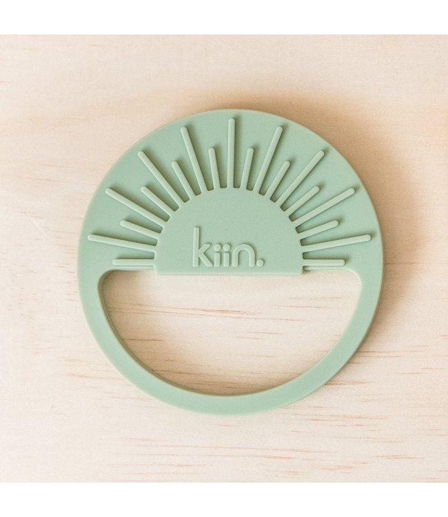 kiin SUNRISE SILICONE TEETHER - SAGE