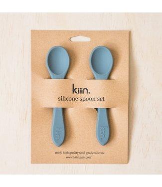 kiin SILICONE SPOON TWIN PACK - CLOUD