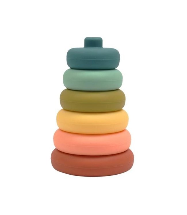 SILICONE STACKER TOWER-BLUEBERRY