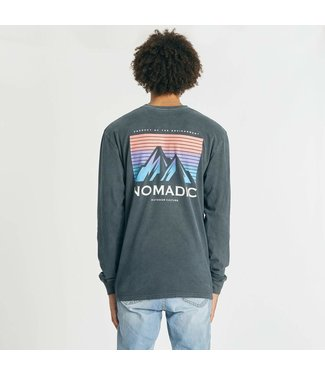 NOMADIC PARADISE INACCESSIBLE RELAXED L/S TEE - PIGMENT ASPHALT
