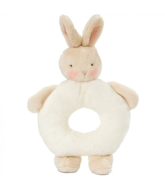 BUNNY RING RATTLE - WHITE