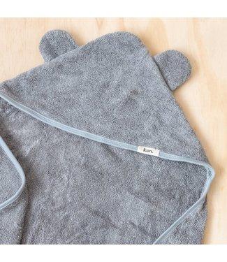 kiin HOODED TOWEL - CLOUD