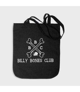 BILLY BONES CLUB WASHED BLACK LOGO TOTE