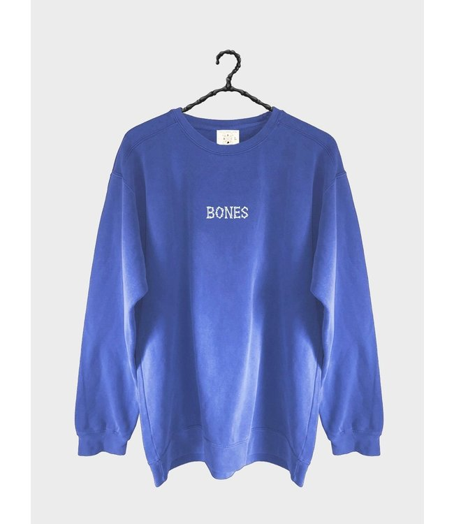 BILLY BONES CLUB BONES CLUB CREW SWEATER - COBAIN BLUE