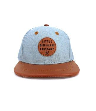 Little Renegade Company DENIM AND TAN CAP