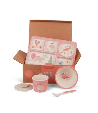 LOVE MAE DIVIDED PLATE SET - WOODLAND FRIENDS